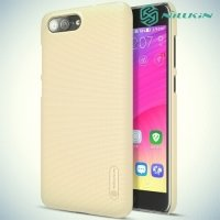 Чехол накладка Nillkin Super Frosted Shield для ASUS Zenfone ZC550TL X015D - Золотой