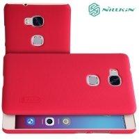 Чехол накладка Nillkin Super Frosted Shield для Huawei Honor 5X - Красный