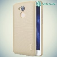 Чехол накладка Nillkin Super Frosted Shield для Huawei Honor 6A - Золотой