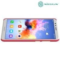 Чехол накладка Nillkin Super Frosted Shield для Huawei Honor 7X - Красный