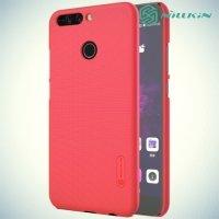 Чехол накладка Nillkin Super Frosted Shield для Huawei Honor 8 Pro - Красный