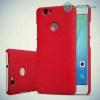 Чехол накладка Nillkin Super Frosted Shield для Huawei nova - Красный
