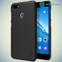 Чехол накладка Nillkin Super Frosted Shield для Huawei Nova lite 2017 - Черный