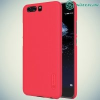 Чехол накладка Nillkin Super Frosted Shield для Huawei P10 - Красный