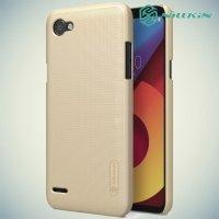 Чехол накладка Nillkin Super Frosted Shield для LG Q6a M700 - Золотой
