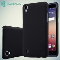 Чехол накладка Nillkin Super Frosted Shield для LG X Power K220DS - Черный