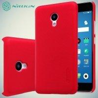 Чехол накладка Nillkin Super Frosted Shield для Meizu M5 - Красный
