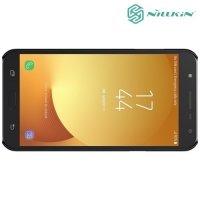 Чехол накладка Nillkin Super Frosted Shield для Samsung Galaxy J7 Neo - Черный