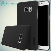 Чехол накладка Nillkin Super Frosted Shield для Samsung Galaxy Note 7 - Черный