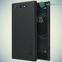 Чехол накладка Nillkin Super Frosted Shield для Sony Xperia XZ1 Compact - Черный