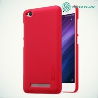 Чехол накладка Nillkin Super Frosted Shield для Xiaomi Redmi 4A - Красный