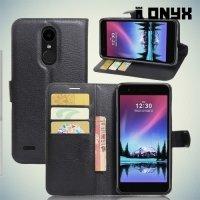 Чехол книжка для LG K10 2017 M250 - Черный