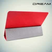 Чехол книжка универсальный для планшетов 10 дюймов тонкий Dream - Красный