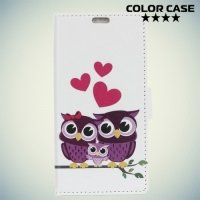 ColorCase флип чехол книжка для Alcatel One Touch U5 4047D - Совята