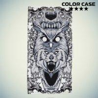 ColorCase флип чехол книжка для Alcatel One Touch U5 4047D - Волк и сова