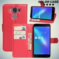 ColorCase флип чехол книжка для Asus Zenfone 3 Max ZC553KL - Красный