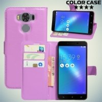 ColorCase флип чехол книжка для Asus Zenfone 3 Max ZC553KL - Фиолетовый