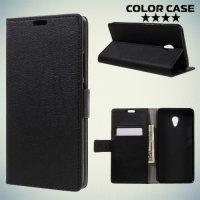 ColorCase флип чехол книжка для Meizu M3E - Черный