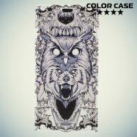 ColorCase флип чехол книжка для Sony Xperia XA1 Plus - Волк и сова