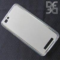 DF aCase силиконовый чехол для ZTE Blade A610 - Матовый белый