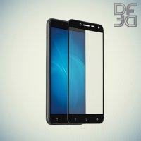 DF Закаленное защитное стекло на весь экран для Asus ZenFone 3 Max ZC553KL - Черный