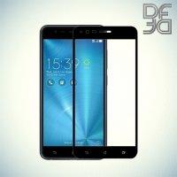 DF Закаленное защитное стекло на весь экран для Asus ZenFone 3 Zoom ZE553KL - Черный