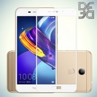 DF Закаленное защитное стекло на весь экран для Huawei Honor 6C Pro - Белый