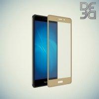 DF Закаленное защитное стекло на весь экран для Huawei Honor 6x - Золотой