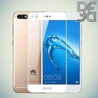DF Закаленное защитное стекло на весь экран для Huawei Nova lite 2017 - Белый