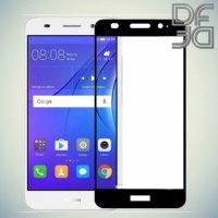 DF Закаленное защитное стекло на весь экран для Huawei Y3 2017 - Черный
