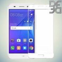 DF Закаленное защитное стекло на весь экран для Huawei Y3 2017 - Белый