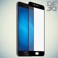 DF Закаленное защитное стекло на весь экран для Meizu M3 Max - Черный