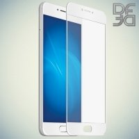 DF Закаленное защитное стекло на весь экран для Meizu M3 Note - Белый
