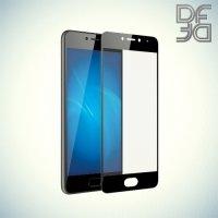 DF Закаленное защитное стекло на весь экран для Meizu M5c - Черный