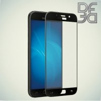 DF Закаленное защитное стекло на весь экран для Samsung Galaxy A3 2017 SM-A320F - Черный