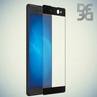 DF Закаленное защитное стекло на весь экран для Sony Xperia XA Ultra - Черный