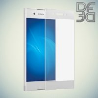 DF Закаленное защитное стекло на весь экран для Sony Xperia XA1 - Белый
