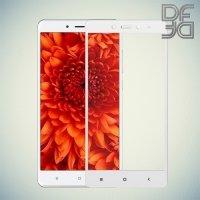 DF Закаленное защитное стекло на весь экран для Xiaomi Redmi Note 4 - Белый