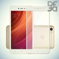 DF Закаленное защитное стекло на весь экран для Xiaomi Redmi Note 5A 3/32GB - Белый