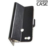 Fashion Case чехол книжка флип кейс для Alcatel Idol 5 - Черный