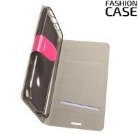 Fashion Case чехол книжка флип кейс для Alcatel Idol 5 - Розовый