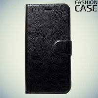 Fashion Case чехол книжка флип кейс для Asus Zenfone 4 Selfie ZD553KL / Live ZB553KL - Черный
