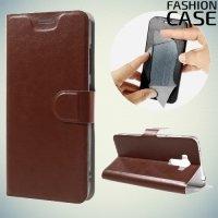 Fasion Case чехол книжка флип кейс для Asus ZenFone 3 Laser ZC551KL - Коричневый