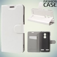 Fasion Case чехол книжка флип кейс для Lenovo K6 / K6 Power - Белый