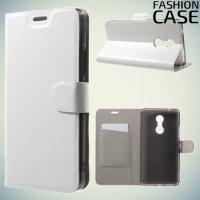 Fasion Case чехол книжка флип кейс для Lenovo K6 Note - Белый