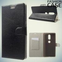 Fasion Case чехол книжка флип кейс для Lenovo Phab 2 Plus PB2-670M - Черный