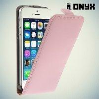 Флип чехол книжка для iPhone SE - Розовый