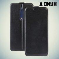 Флип чехол книжка для Nokia 5 - Черный
