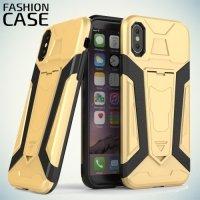 Гибридный с подставкой чехол для iPhone X - Золотой