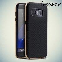 IPAKY противоударный чехол для Samsung Galaxy S7 Edge  - Золотой